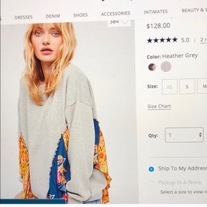 Free people Ruffle sweatshirt